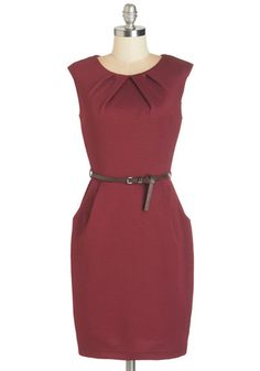 Teaching Classy Dress in Maroon | Mod Retro Vintage Dresses | ModCloth.com