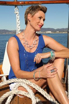 "Get a ""seaside-chic"" look with beautiful blues!   Silpada Blog #WomensFashion"