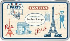 Cavallini Vintage Paris Rubber Stamp Set
