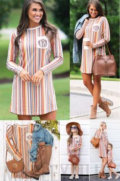 Comfy and oh so cute, these personalized pocket dresses will be a perfect staple for your fall wardrobe. These long sleeved, straight fit dresses are so easy to throw on for a quick and stylish outfit.