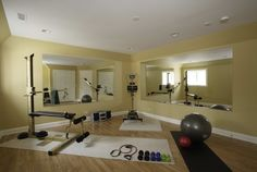Basement Exercise Room - traditional - home gym - chicago - Great Rooms Designers & Builders