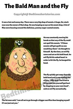 This is one of the awesome funny bedtime stories for kids. Full story in link above, read now. Short Funny Stories, Funny Stories To Tell, English Short Stories, Short Stories For Kids, Kids English, Bald Man, Bedtime Stories, Storytelling, Hilarious