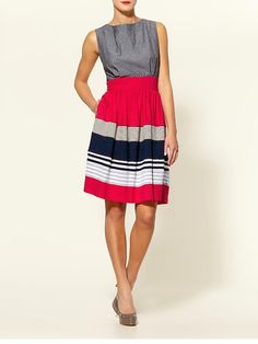 Love anything red, white and navy