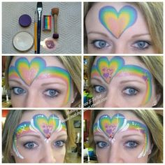 Fast and simple heart price cess crown face painting tutorial by Making Faces & Tutus www.makingfaces.vpweb.com