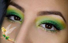 Maquillaje para disfrazarse de Campanilla (Tinkerbell) Carnaval 2017