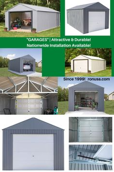 Check out our selection of garages that are available in different sizes and styles.
