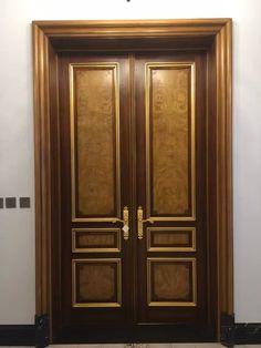 41 Ideas For Main Door Classic Entrance Main Entrance Door Design, Wooden Main Door Design, Double Door Design, Double Entrance Doors, Home Door Design, Pooja Room Door Design, House Design, Wooden Double Doors, Wooden Doors