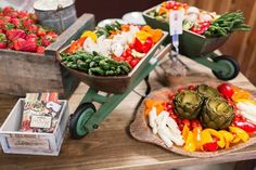 Vegetable Display from our Grand Opening Party...presented by OUI Catering and photos by Mallory Miya Photography