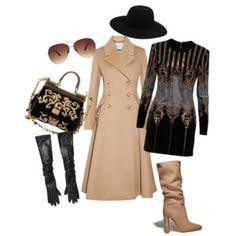 Luxury beige - Luxusní béžová - styling v béžovo-černé kombinaci s nádechem luxusu Collections, Polyvore, Model, Image, Fashion, Luxury, Moda, Fashion Styles
