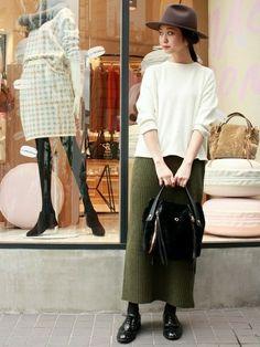SLOBE IENA新宿店 | Gummiさんのスカート「SLOBE IENA 《予約》リブマキシタイトスカート◆」を使ったコーディネート