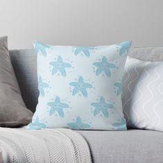 White Throws, White Throw Pillows, Blue Throws, Buy Pillows, Designer Throw Pillows, White Branches, Christmas Pillow, Cozy Christmas, Snowflake Pattern