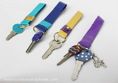 Key Rings With Duct Tape