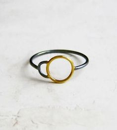 Anaphase Gold & Silver Ring by Meander Works
