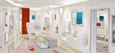 We are a global and creative design studio in Geneva, Tokyo and Beijing. Retail Interior Design, Wall Shelves, Shelf, Paris Design, Parquet Flooring, Interior Design Inspiration, White Walls, Architecture, Best Hotels
