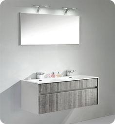Bathroom Vanity And Mirror duravit delos dl6221 wall mount modern bathroom vanity unit - pull