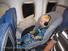 Tips for flying with a toddler or baby.