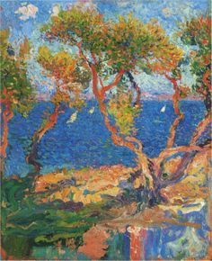 Henri Martin - Olive Trees by the Sea http://www.oceansbridge.com/oil-paintings/page.php?xPage=sectionlist.htmlxSec=4370page=5