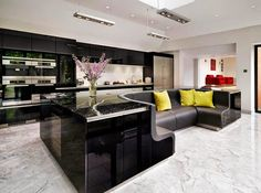 Kitchen Island With Built-in Sofa Upgrades Stylish Home ~ Home Designs