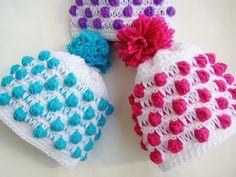 Free Crochet Beanie Pattern | Crochet Dreamz: Polka Dot Beanie Crochet Hat Pattern, Newborn to Woman