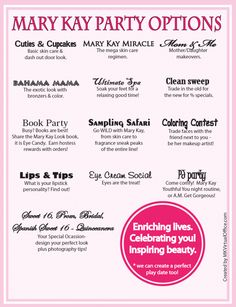 Party Ideas Marykay.com/ajacobsen