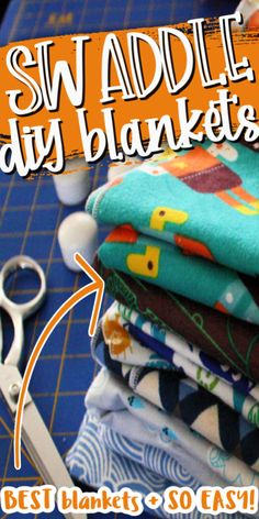 The Best Baby Swaddle Blanket Tutorial. Super fast and easy. These blankets will be your favorite. Baby Sewing Tutorials, Baby Sewing Projects, Sewing Projects For Beginners, Sewing Patterns Free, Diy Craft Projects, Craft Ideas, Cooling Blanket, Baby Swaddle Blankets, Easy Knitting