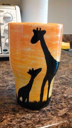 Painted giraffe mug.. My favorite