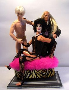 The Rocky Horror Show Barbie. Works From The Annual Altered Barbie Exhibit Barbie In Real Life, Bad Barbie, Barbie Life, Barbie World, Barbie And Ken, Girl Barbie, Elmo, Joseph, The Rocky Horror Picture Show