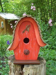 179 Best Painted Birdhouses Images On Pinterest In 2018