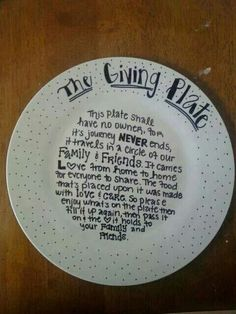 The Giving Plate - great idea for a secret santa present