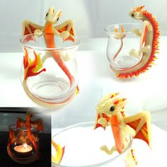 Fire Dragon Candle holder by LittleCLUUs on DeviantArt