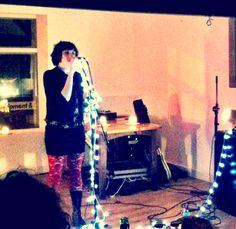 Kate Garrett spoken word performance at Hagglers Corner Sheffield part of the 2012 Golden Hour tour