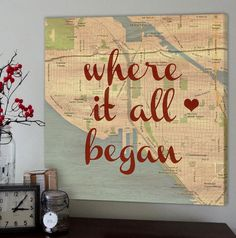 """Where it all began"" - the story of your love! Such a sweet keepsake and a reminder of where your love story started!"