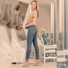 Capri Pants, Leggings, Suits, Fashion, Moda, Capri Trousers, Fashion Styles, Suit, Wedding Suits