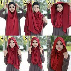Simple and simple look hijab tutorial . Simple and simple look hijab tutorial … – … Si… Simple and s Tutorial Hijab Pashmina, Hijab Style Tutorial, Stylish Hijab, Hijab Chic, Islamic Fashion, Muslim Fashion, Hijab Dress, Hijab Outfit, Turban Hijab