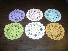 Set of 6 Pieces of Crocheted Flowers Different Colours Crocheted Flowers, Different Colors, Crochet Earrings, Colours, Trending Outfits, Unique Jewelry, Handmade Gifts, Etsy, Vintage