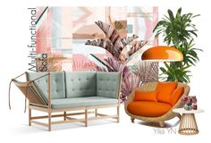 """""""Multi-functional Sofa"""" by yyuan11 ❤ liked on Polyvore featuring interior, interiors, interior design, home, home decor, interior decorating, Nearly Natural, Tom Dixon and FontanaArte"""