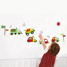 Cartoon cars child room wall stickers for kids room boy bedroom wall decals window poster car wall sticker wallpaper Wall Mural Decals, Wall Stickers Wallpaper, Wall Stickers Room, Wall Decals For Bedroom, Removable Wall Stickers, Art Mural, Bedroom Art, Kids Bedroom, Bedroom Ideas