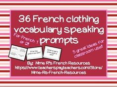Need a way to practice clothing vocabulary in French class? Kids love this, because they get to get up and move!This set of 36 questions is perfect for beginners who need more practice with clothing vocabulary, the weather, and full sentence responses.