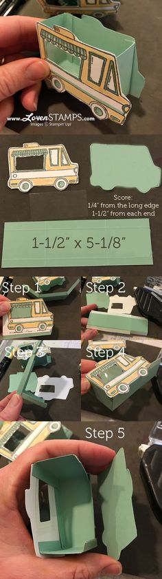 LovenStamps: Video tutorial instructions for the Tasty Trucks Treat Box pictured in the Sale-A-Bration Mini Catalog