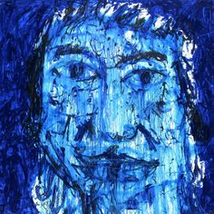 Dedy Sufriadi: Face #2, Acrylic on Canvas, 150 x 150 cm. A visually impactful portrait, the artist once again defies structured aesthetics and discipline, and brings together a face with his own unique hybrid form of expression. With strokes and detailing that is leaping with emotion and intention, the face may not be conventionally aesthetic but conveys much to the viewer and inspires thought and contemplation in what may lie behind its form of depiction.