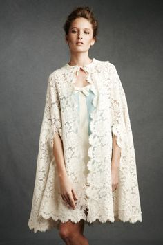 DUCHESS LACE CAPE -- do you think anyone can actually get away with wearing this? I'd like to try!