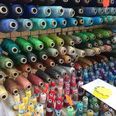 #Yarn and #thread #galore @FibreEast. #wool #textiles #yarn #thread #colour #roving #felting #texture #creativity #FibreEast
