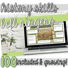100 skill-based activities (mini-lessons, bell ringers, warm-ups, bell work, start-nows, early-finishers, enrichment work) focusing on historical thinking skills (simple review activities and more complex activities are included). Most activities incorporate primary sources such as maps, photos, art... Bell Work, Bell Ringers, Howard Zinn, Primary Sources, Early Finishers, History Class, Thinking Skills, Toolbox, Social Studies