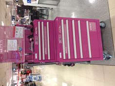 What every girl needs, a pink tool chest. So many uses...sewing or craft room, makeup station in a teens room. Oh and lets not forget tools that we need to keep from walking off when they are borrowed and not returned.