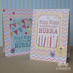 H♥BBYSYSLER: Fargerike bursdagskort
