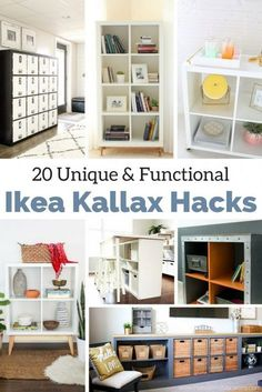 The IKEA Kallax series Storage furniture is an essential part of any home. They provide order and help you hold track. Fashionable and delightfully easy the ledge Kallax from Ikea , for example. Diy Storage Bench, Ikea Storage, Cube Storage, Kitchen Storage, Storage Ideas, Wall Storage, Bedroom Storage, Book Storage, Kitchen Shelves