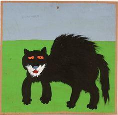 Black Cat | Jake McCord | tempura painting, 1991