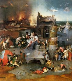 Hieronymus Bosch c. 1505-1506  Triptych of Temptation of St Anthony (central panel)
