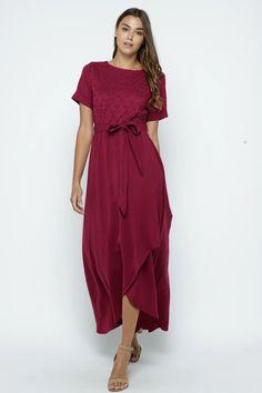 modest dresses, burgundy maxi dress, modest bridesmaid dresses