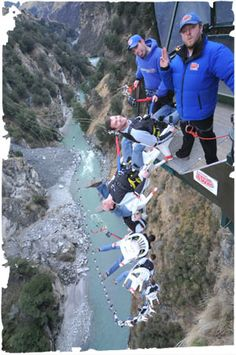 """The Chair"" Bungee Jump - Shotover Canyon Swing Queenstown, New Zealand The World's Highest Cliff Jump !!!"